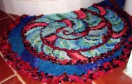 Hooked and progged rug by Pam Mactear