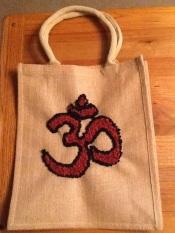 Progged hessian bag by Ann Kenyon