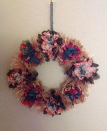 Festive wreath by Ceri Hibbert